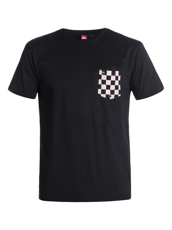 0 Hoosier Check T-Shirt  EQYKT00033 Quiksilver
