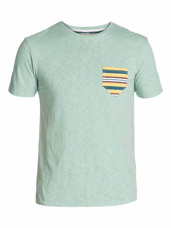 0 Contrast Pocket Slim Fit T-Shirt  EQYKT03003 Quiksilver