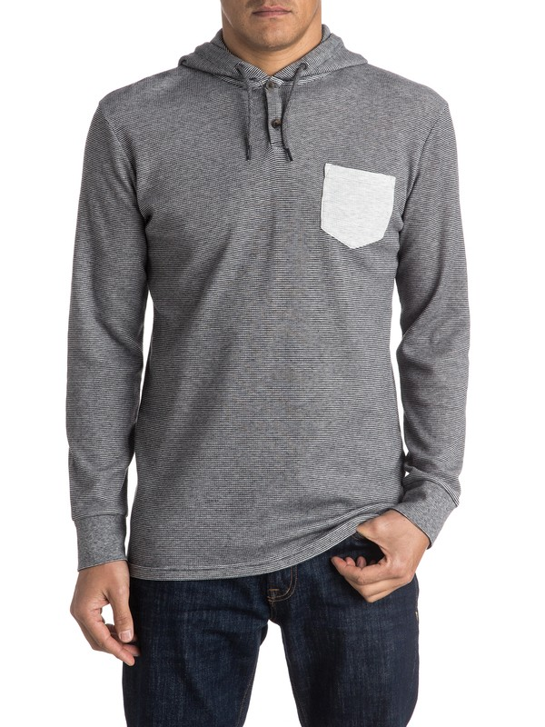 0 Murky Sky Hooded Long Sleeve Tee  EQYKT03407 Quiksilver