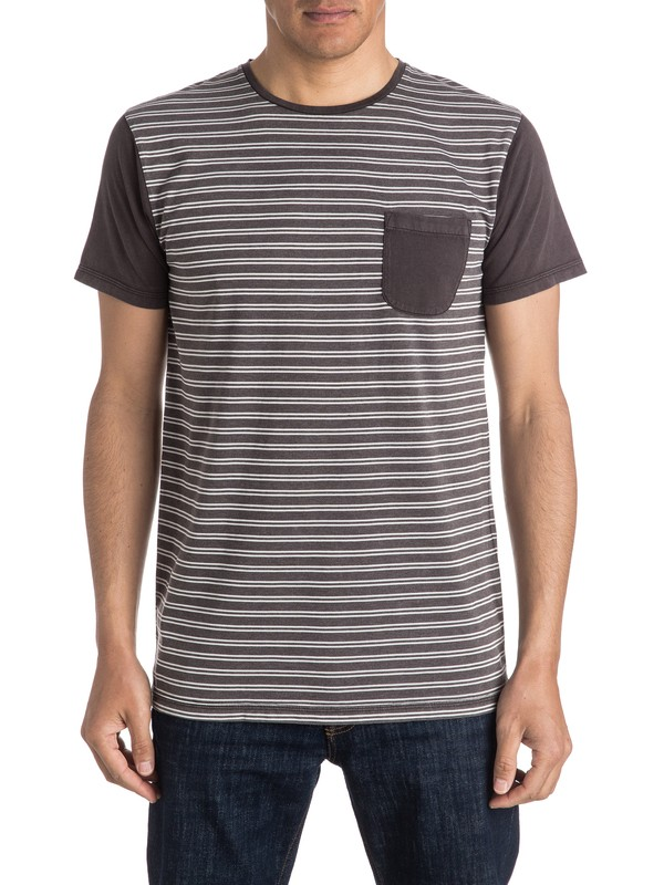 0 Acid Striped Pocket Tee  EQYKT03473 Quiksilver