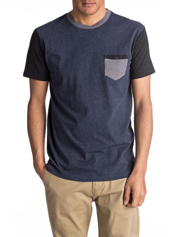 0 Baysic - Maglietta con tasca Blue EQYKT03501 Quiksilver