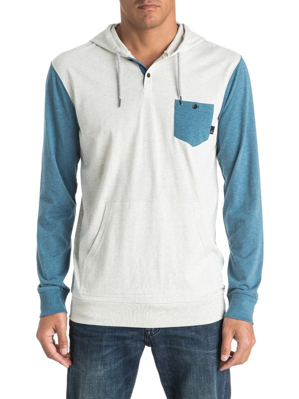 0 Guitar Magic Long Sleeve Hooded Tee  EQYKT03504 Quiksilver