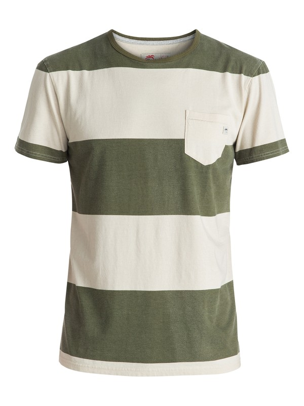 0 Maxed Out Hero - Pocket T-Shirt Green EQYKT03537 Quiksilver