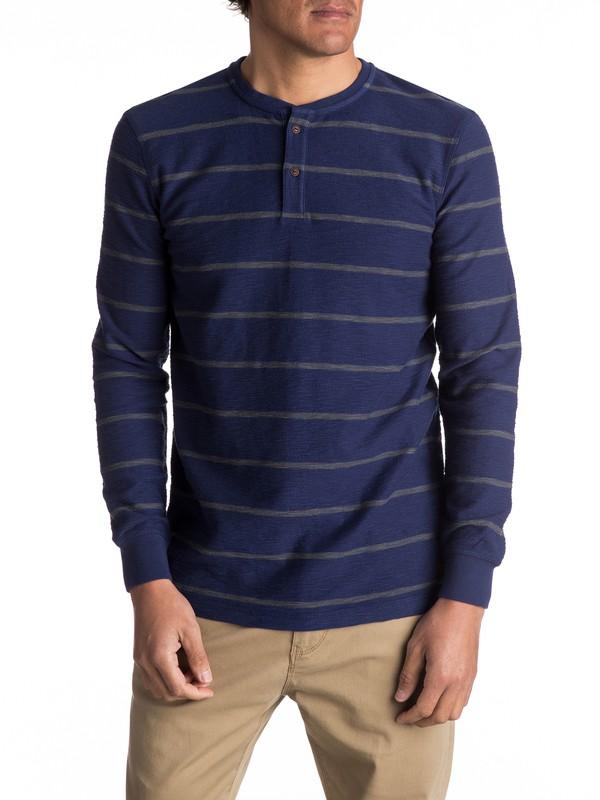0 Y'Ami - T-shirt à col boutonné et manches longues  EQYKT03606 Quiksilver