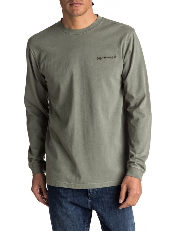 9fb4624f5b17 0 Sunny Visions - Long Sleeve T-Shirt for Men Brown EQYKT03617 Quiksilver