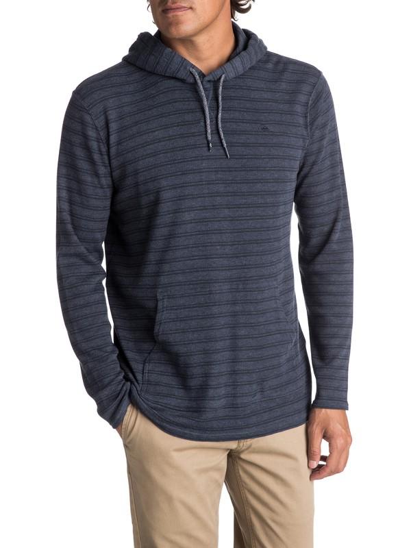 0 Men's Ocean Surface Long Sleeve Hooded Top  EQYKT03648 Quiksilver