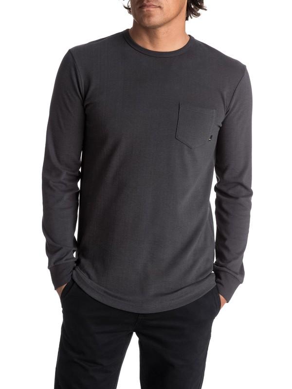 0 Men's Axin Long Sleeve Pocket Tee Black EQYKT03656 Quiksilver