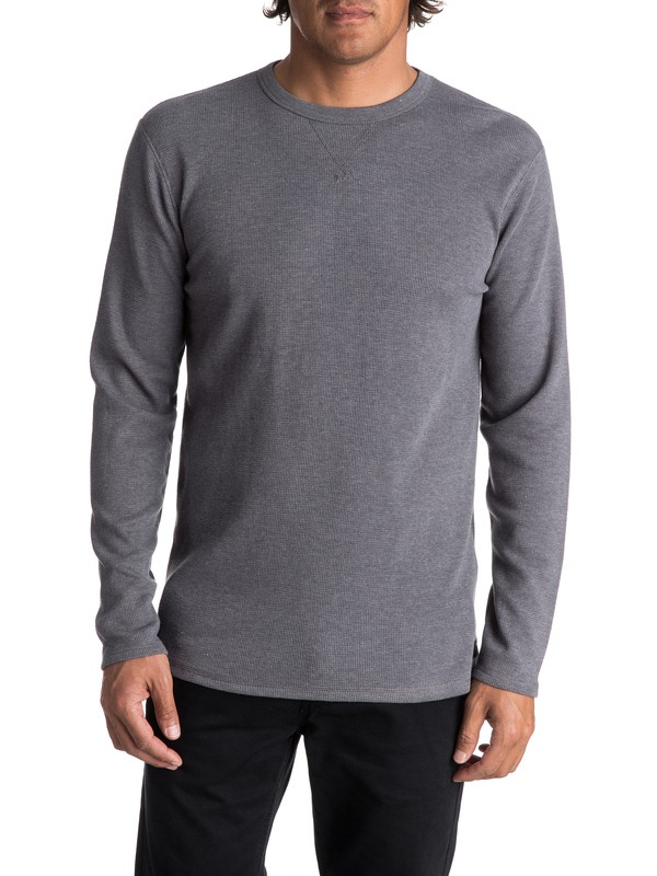 0 Men's Ocean Surface Thermal Long Sleeve Top Black EQYKT03658 Quiksilver