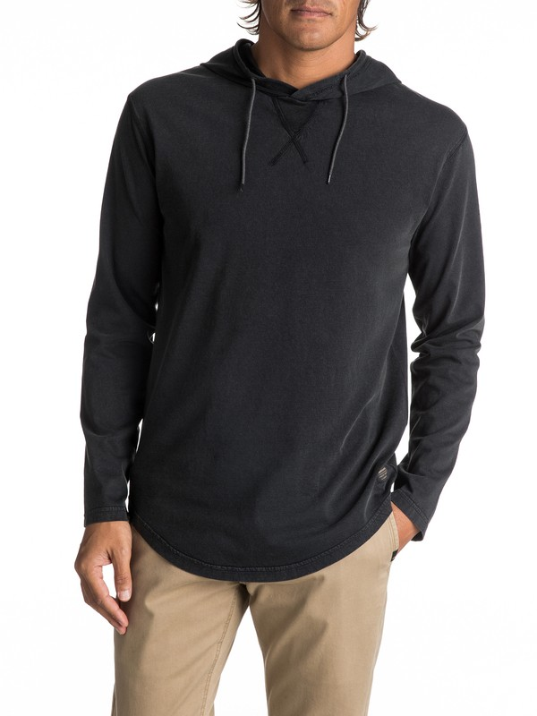 0 Men's Salty Hooded Long Sleeve Tee  EQYKT03659 Quiksilver