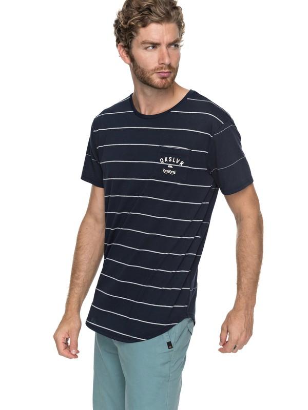 0 Caper Rocks - T Shirt col rond pour Homme Bleu EQYKT03682 Quiksilver