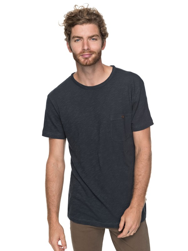 0 Low Tide Pocket Tee Blue EQYKT03683 Quiksilver