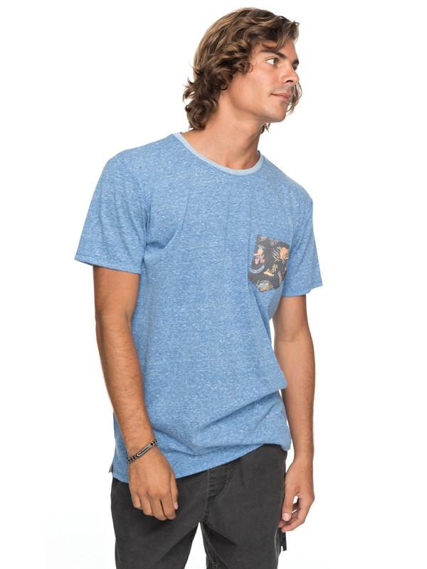 0 Broken Leash - T shirt avec poche pour Homme Bleu EQYKT03686 Quiksilver
