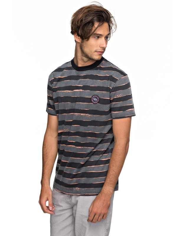 0 Allover Mad Wax - T Shirt col rond pour Homme Noir EQYKT03690 Quiksilver