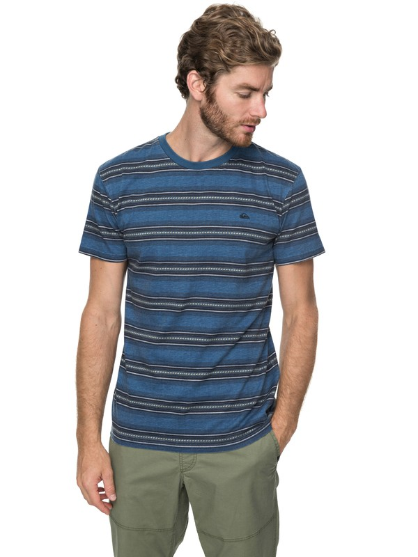 0 Bayo - T Shirt col rond pour Homme Bleu EQYKT03691 Quiksilver