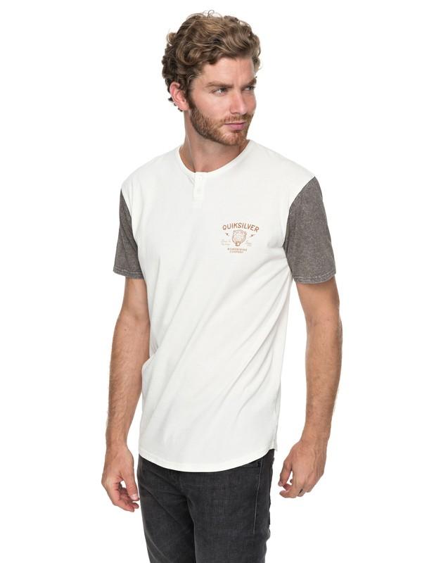 0 Optic - Henley T-Shirt White EQYKT03699 Quiksilver