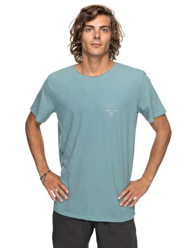 0 Stage Gaze - T Shirt col rond pour Homme Bleu EQYKT03708 Quiksilver