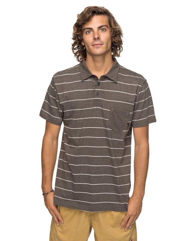 0 Knolljet Stripe Polo Shirt  EQYKT03717 Quiksilver