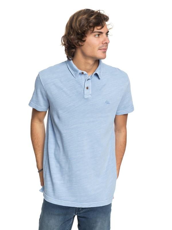 0 New Sun Cruise Polo Shirt Blue EQYKT03718 Quiksilver