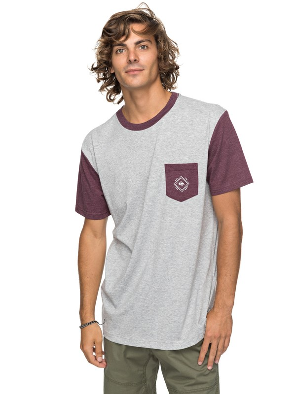 0 Baysic - Pocket T-Shirt Grey EQYKT03733 Quiksilver