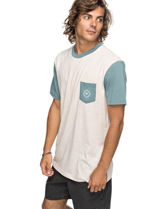 0 Baysic - Camiseta con Bolsillo Blanco EQYKT03733 Quiksilver