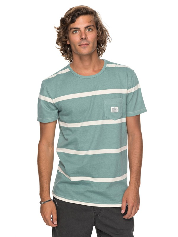 0 New Maxed Pocket Tee Blue EQYKT03736 Quiksilver