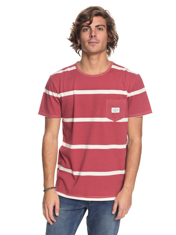 0 New Maxed Pocket Tee Pink EQYKT03736 Quiksilver