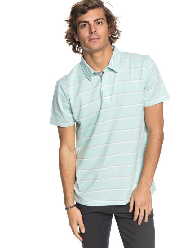 0 Stripe Polo Shirt Blue EQYKT03745 Quiksilver
