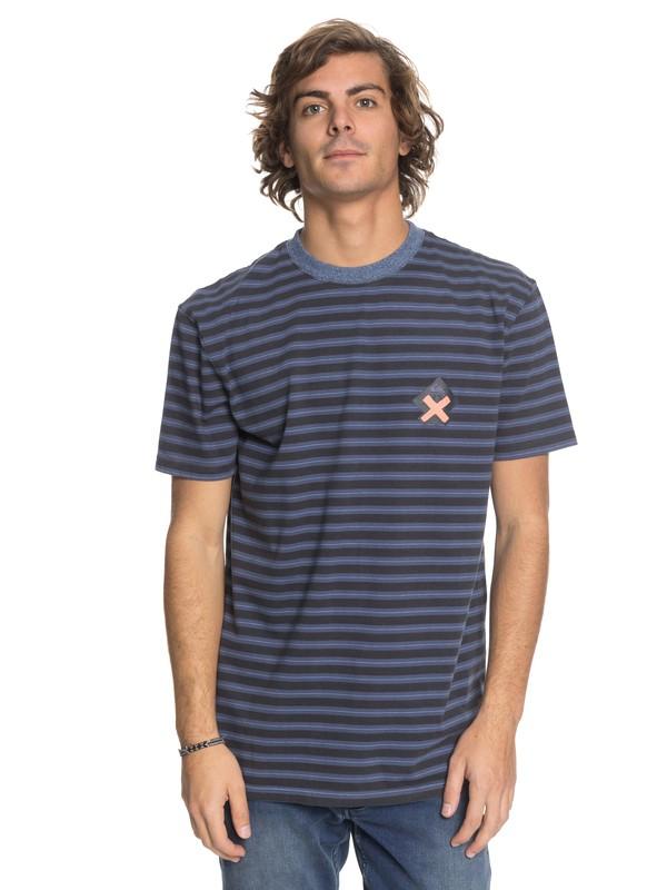 0 Men Mad Wax con Rayas Camiseta  EQYKT03748 Quiksilver