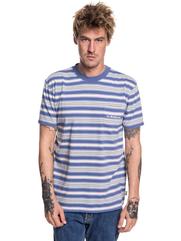 0 Slide Out - T-Shirt for Men Blue EQYKT03752 Quiksilver