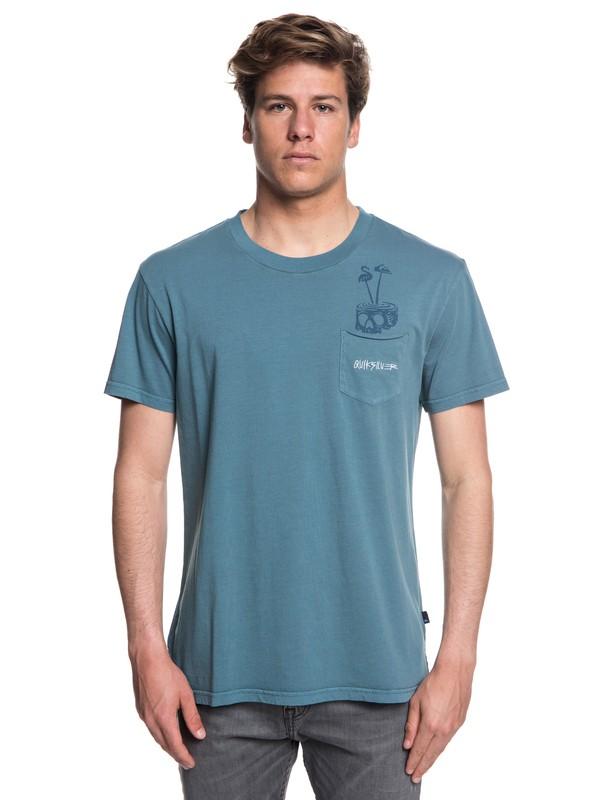 0 Men's Skumel Tee Blue EQYKT03760 Quiksilver