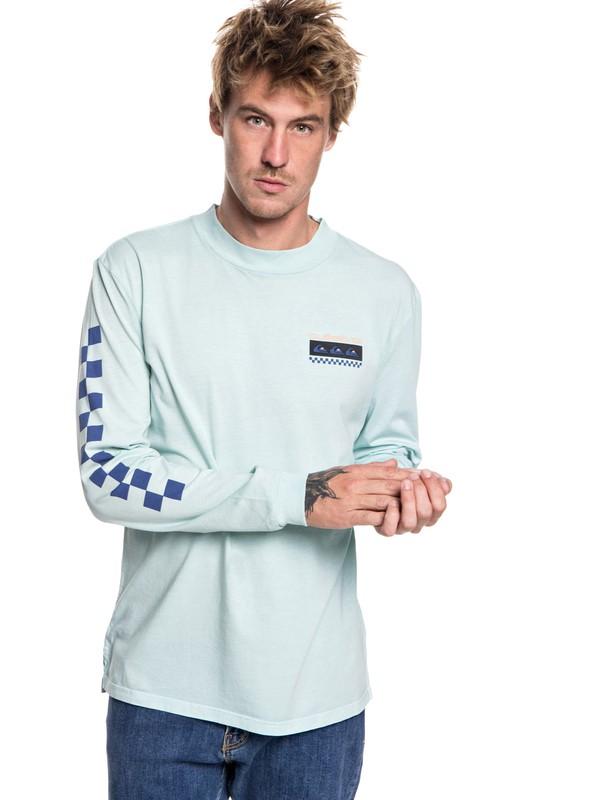 0 Hombres Camiseta Manga Larga Surf Class Azul EQYKT03780 Quiksilver