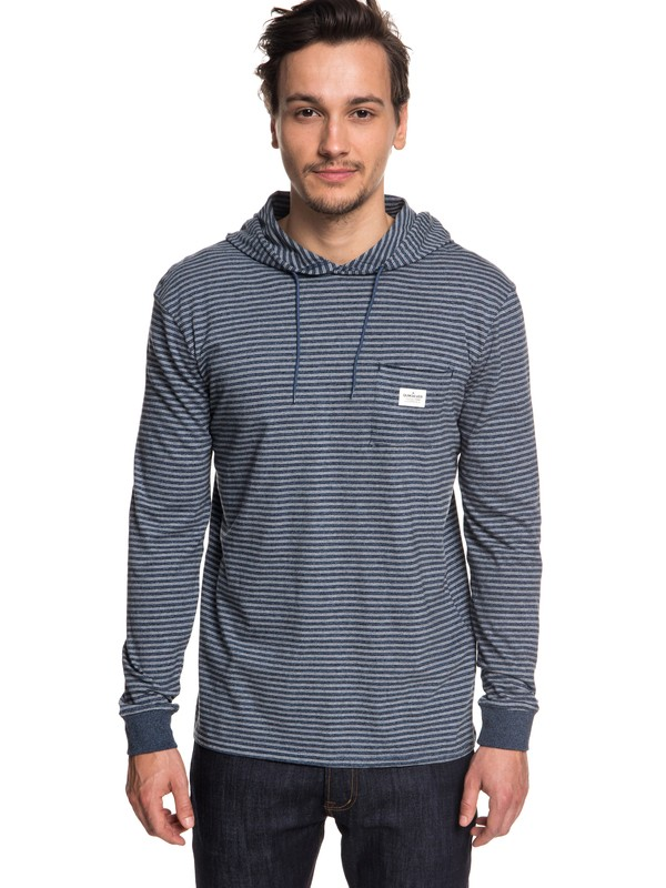 0 Zermet Long Sleeve Hooded Top Blue EQYKT03781 Quiksilver