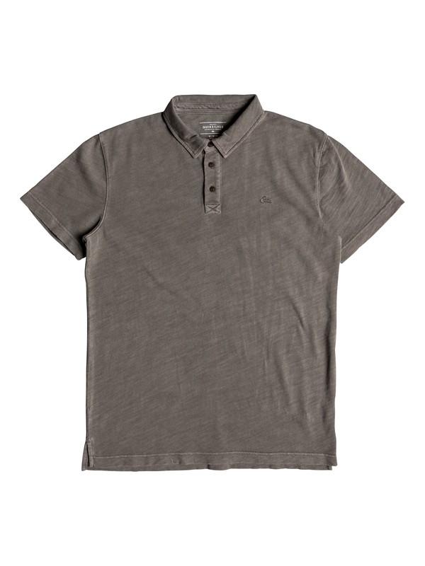 0 Everyday Sun Cruise Short Sleeve Polo Shirt Grey EQYKT03784 Quiksilver