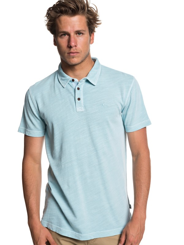 0 Everyday Sun Cruise Short Sleeve Polo Shirt Blue EQYKT03784 Quiksilver