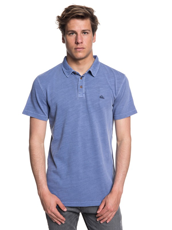 0 Everyday Sun Cruise Short Sleeve Polo Shirt Blue EQYKT03784 Quiksilver