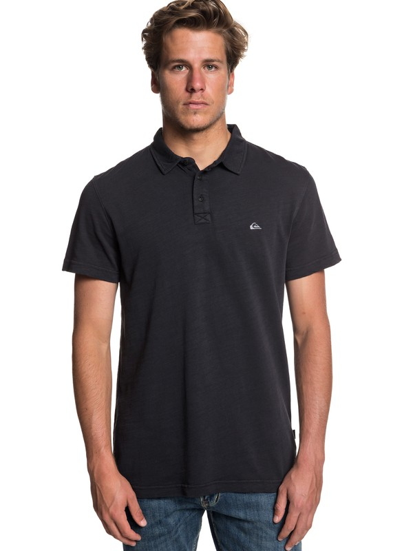 0 Everyday Sun Cruise Short Sleeve Polo Shirt Black EQYKT03784 Quiksilver