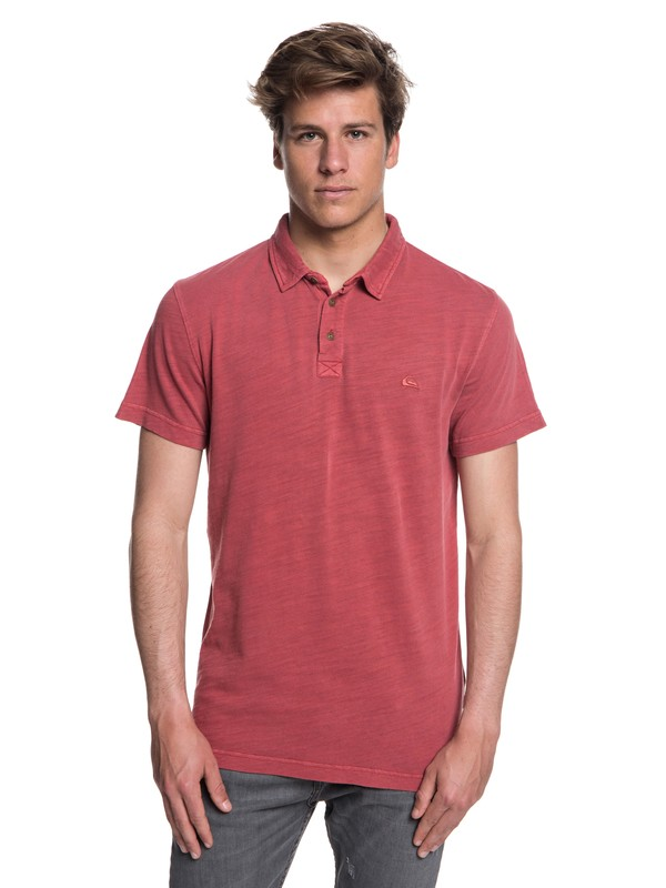 0 Everyday Sun Cruise Short Sleeve Polo Shirt Red EQYKT03784 Quiksilver