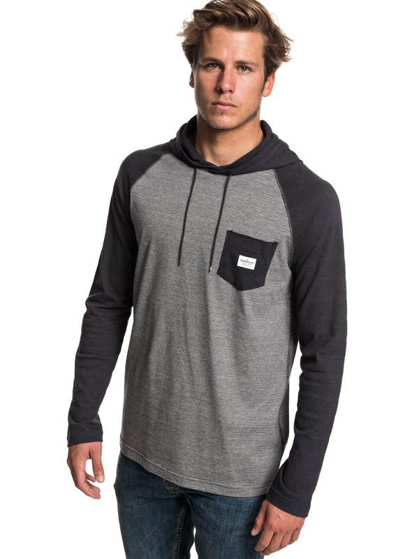 0 Michi Long Sleeve Hooded Top Black EQYKT03799 Quiksilver