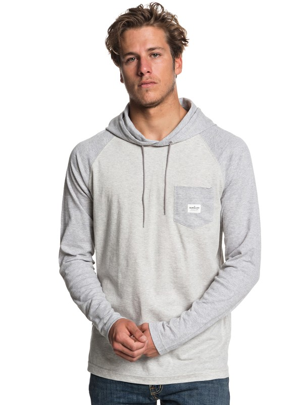 0 Michi Long Sleeve Hooded Top Grey EQYKT03799 Quiksilver