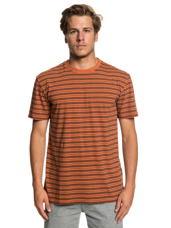 0 Deeper States - T-shirt pour Homme Orange EQYKT03833 Quiksilver
