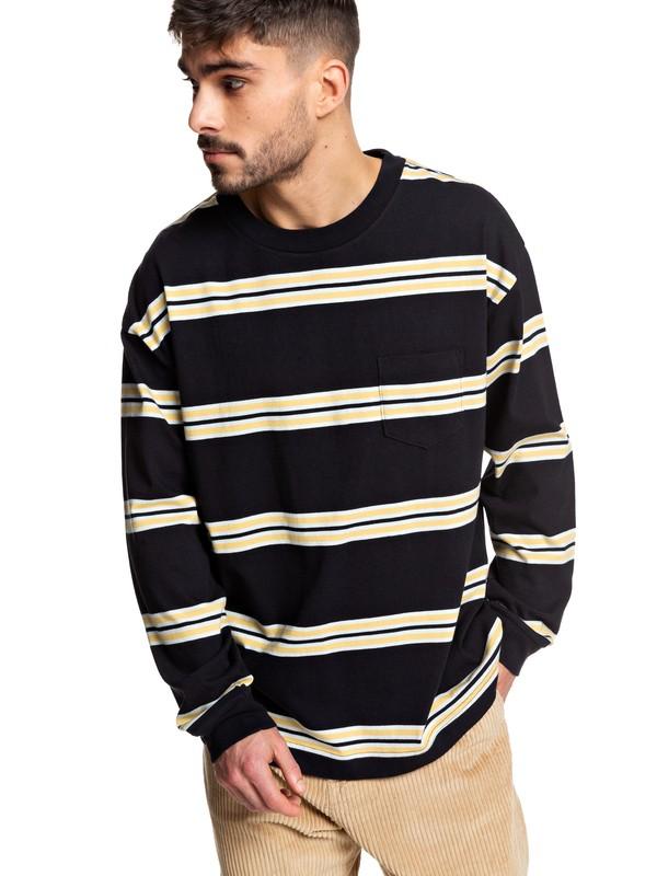 0 Positive Vibrations - Long Sleeve T-Shirt Black EQYKT03954 Quiksilver