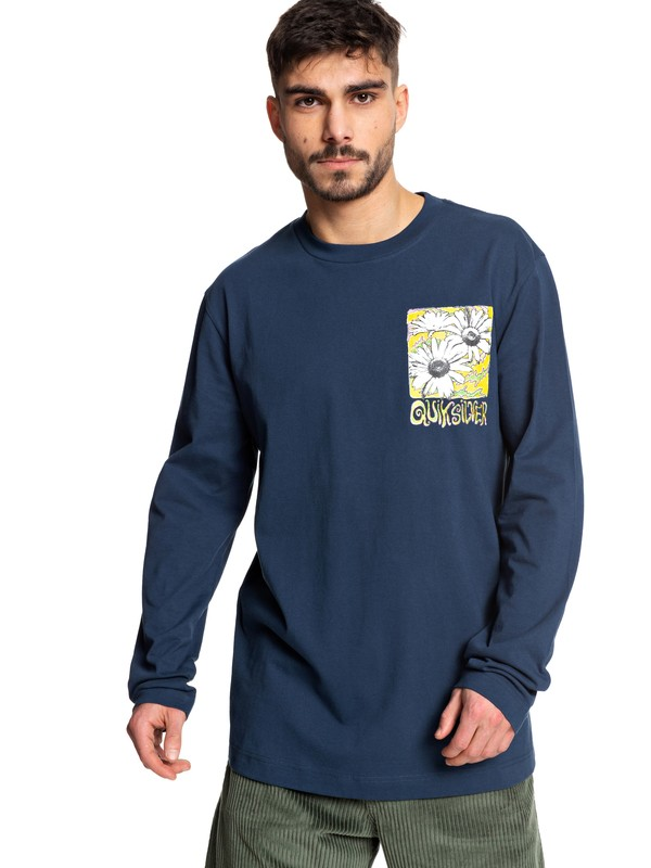 0 STM Long Sleeve Skate Tee Blue EQYKT03955 Quiksilver