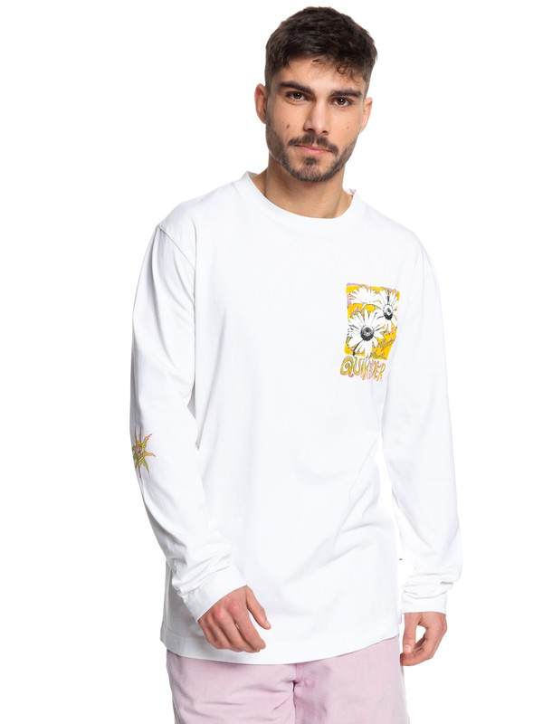 0 STM Long Sleeve Skate Tee White EQYKT03955 Quiksilver