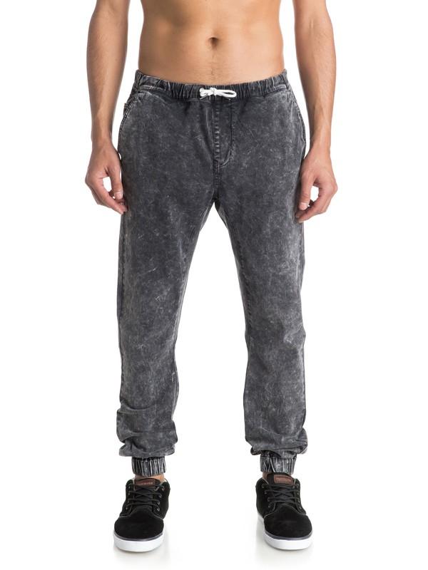 0 Outta My Way - Pantalon Molleton Effet Denim  EQYNP03100 Quiksilver