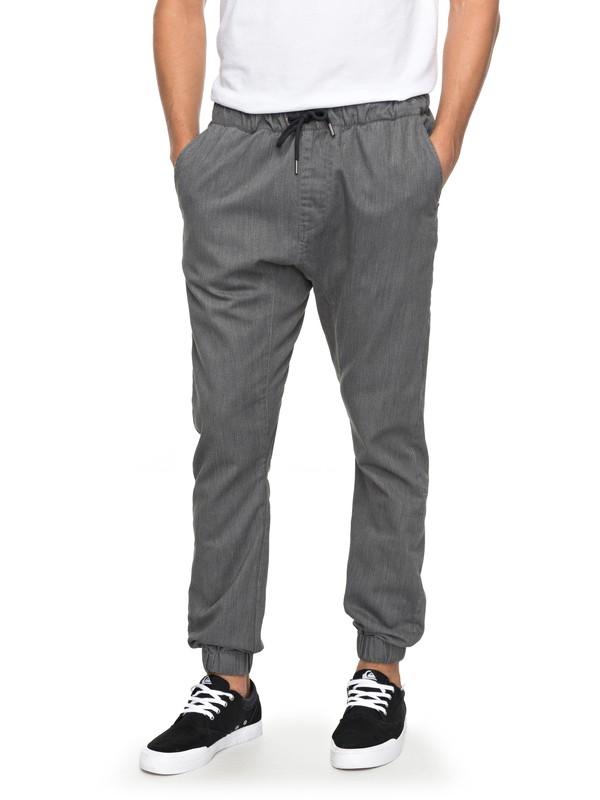 0 Fonic - Pantalon en sergé pour Homme Noir EQYNP03107 Quiksilver