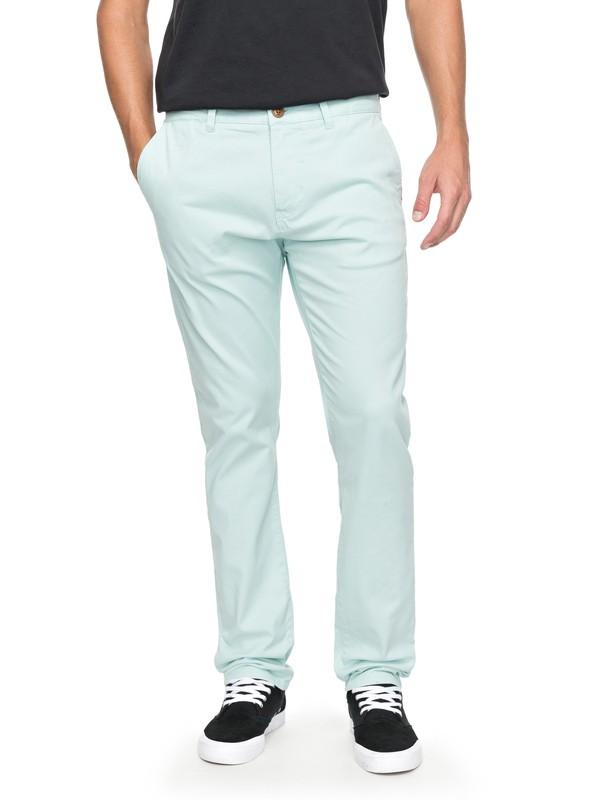 0 Krandy - Pantalon chino slim Bleu EQYNP03108 Quiksilver