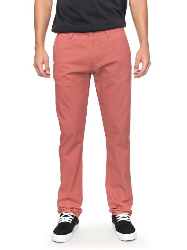 0 Krandy - Slim Fit Chinos Pink EQYNP03108 Quiksilver