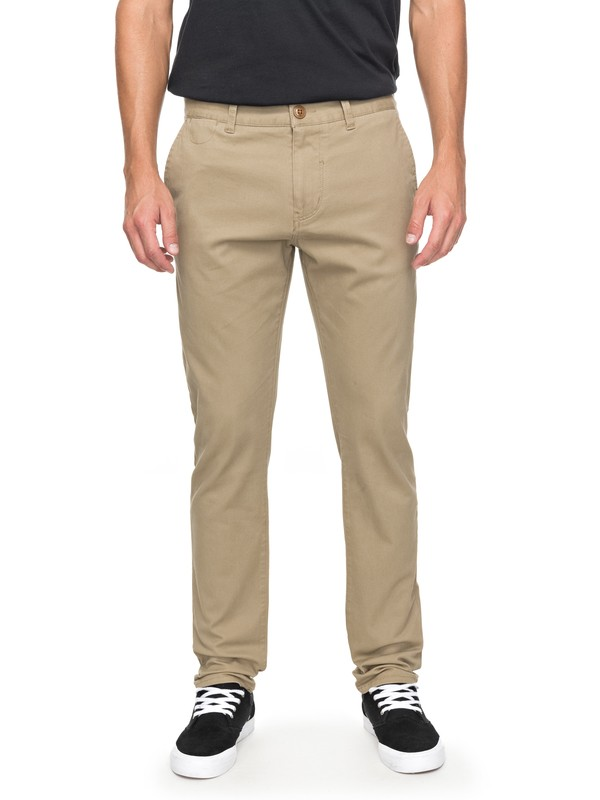 0 Krandy - Slim Fit Chinos Beige EQYNP03108 Quiksilver