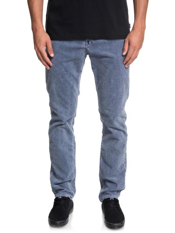 0 Kracker Straight Fit Corduroy Pants Blue EQYNP03129 Quiksilver