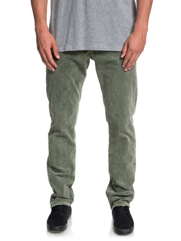 0 Kracker Straight Fit Corduroy Pants Brown EQYNP03129 Quiksilver